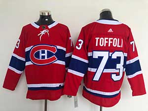 Mens Nhl Montreal Canadiens #73 Tyler Toffoli 2021 Red Home Adidas Jersey