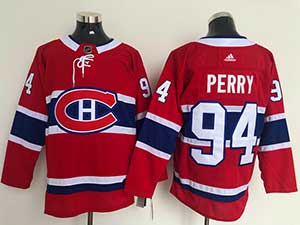 Mens Nhl Montreal Canadiens #94 Perry 2021 Red Home Adidas Jersey