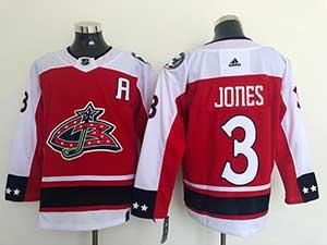Mens Nhl Winnipeg Jets #3 Jones Red Adidas Jersey