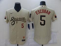 Mens Mlb Arizona Diamondbacks #5 Eduardo Escobar Gold 2021 City Connect Flex Base Nike Jersey