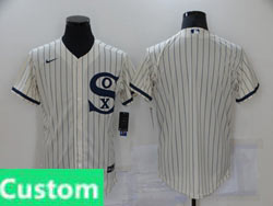 Mens Mlb Chicago White Sox Custom Made Cream 2021 Field Of Dreams Cool Base Nike Jersey