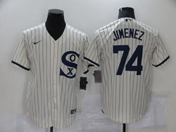 Mens Mlb Chicago White Sox #74 Eloy Jimenez Cream 2021 Field Of Dreams Cool Base Nike Jersey
