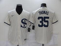 Mens Mlb Chicago White Sox #35 Frank Thomas Cream 2021 Field Of Dreams Cool Base Nike Jersey