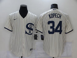 Mens Mlb Chicago White Sox #34 Kopech Cream 2021 Field Of Dreams Cool Base Nike Jersey