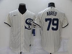 Mens Mlb Chicago White Sox #79 Jose Abreu Cream 2021 Field Of Dreams Cool Base Nike Jersey