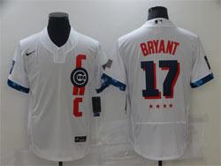 Mens Mlb 2021 All Star Chicago Cubs #17 Kris Bryant White Pullover Flex Base Nike Jersey