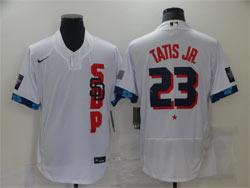 Mens Mlb 2021 All Star San Diego Padres #23 Fernando Tatis Jr. White Pullover Flex Base Nike Jersey