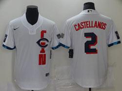 Mens Mlb 2021 All Star Cincinnati Reds #2 Nick Castellanos White Pullover Cool Base Nike Jersey