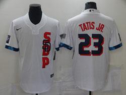 Mens Mlb 2021 All Star San Diego Padres #23 Fernando Tatis Jr. White Pullover Cool Base Nike Jersey
