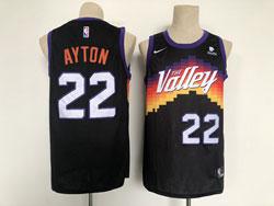 Mens Nba Phoenix Suns #22 Deandre Ayton Black City Edition Nike Swingman Jersey