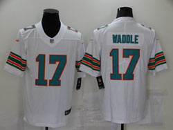 Mens Nfl Miami Dolphins #17 Jaylen Waddle White Color Rush Vapor Untouchable Limited Nike Jersey