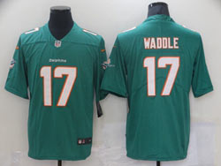 Mens Nfl Miami Dolphins #17 Jaylen Waddle Green Vapor Untouchable Limited Nike Jersey