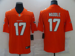 Mens Nfl Miami Dolphins #17 Jaylen Waddle Orange Vapor Untouchable Limited Nike Jersey