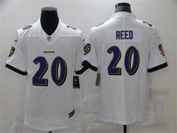 Mens Baltimore Ravens #20 Ed Reed White Vapor Untouchable Limited Nike Jersey