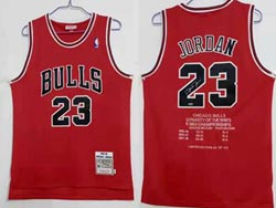 Mens Nba Chicago Bulls #23 Michael Jordan Red Dynasty Of The 1995-98 Championship's Limited Jersey