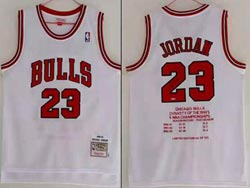 Mens Nba Chicago Bulls #23 Michael Jordan White Dynasty Of The 1991-93 Championship's Limited Jersey