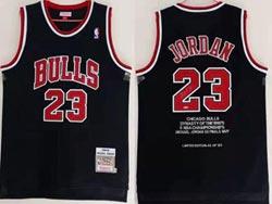 Mens Nba Chicago Bulls #23 Michael Jordan Black Retired Sign Championship's Limited Jersey