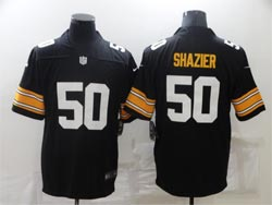 Mens Nfl Pittsburgh Steelers #50 Ryan Shazier Black Throwback Big Number Vapor Untouchable Limited Nike Jersey